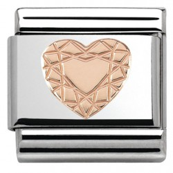 Composable, 9k oro rosa,corazon