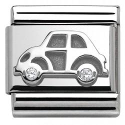 Composable,plata 925,swarovski, coche de juguete