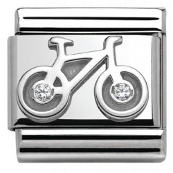 Composable,plata 925,swarovski, bicicleta