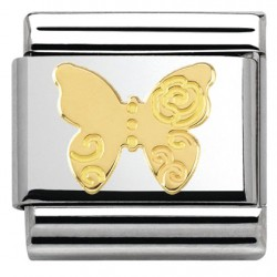 COMPOSABLE DE NOMINATION, ORO 18K, MARIPOSA